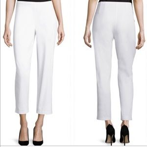 • Eileen Fisher • Twill Slim Ankle Pants White